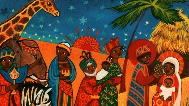 Crèche de noël Afrique