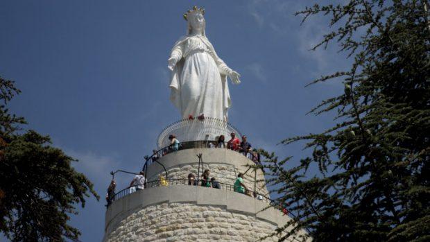 Statue de Notre-Dame du Liban, Harissa, Liban, Moyen Orient.